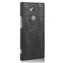 Phone Accessories Lux Case SONY XPERIA XA2 ULTRA black / For Sony XA2 Case Luxury Retro Crocodile Leather Hard Cover For Sony Xperia XA2 Ultra Dual