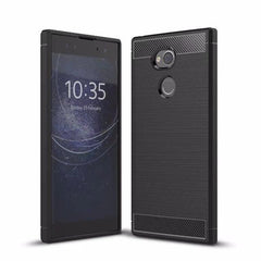 Phone Accessories Lux Case SONY XPERIA XA2 ULTRA Black / For Sony XA2 Luxury Soft Silicone Case For Sony Xperia XA2 /XA2 Ultra Cover Carbon Fibre