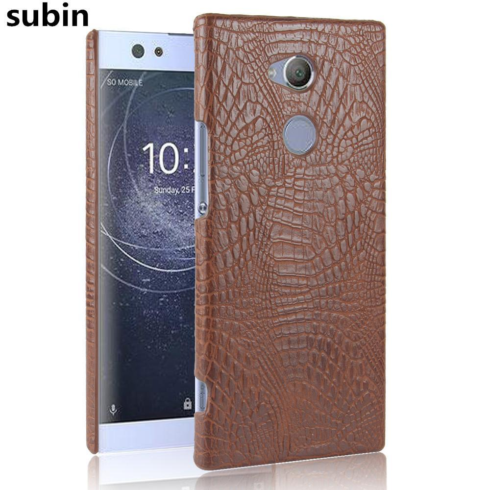 Phone Accessories Lux Case SONY XPERIA XA2 ULTRA Case Luxury Retro Crocodile Leather Hard Cover For Sony Xperia XA2 Ultra Dual