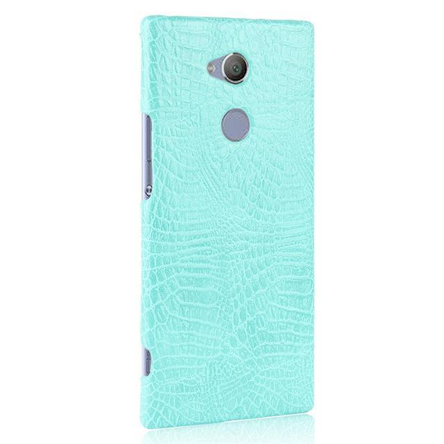 Phone Accessories Lux Case SONY XPERIA XA2 ULTRA light green / For Sony XA2 Case Luxury Retro Crocodile Leather Hard Cover For Sony Xperia XA2 Ultra Dual