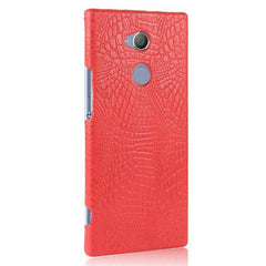 Phone Accessories Lux Case SONY XPERIA XA2 ULTRA red / For Sony XA2 Case Luxury Retro Crocodile Leather Hard Cover For Sony Xperia XA2 Ultra Dual