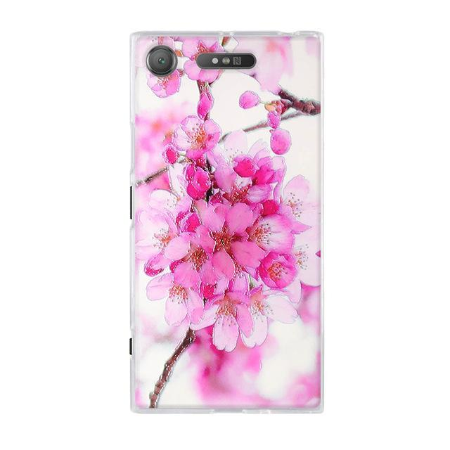 Phone Accessories Lux case SONY XPERIA XZ1 1 / TPU 3D Relief Painted Pattern Cover For Sony Xperia XZ1 Back Phone Cases
