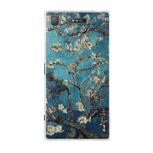 Phone Accessories Lux case SONY XPERIA XZ1 12 / TPU 3D Relief Painted Pattern Cover For Sony Xperia XZ1 Back Phone Cases