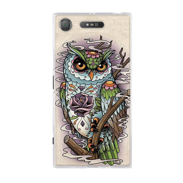 Phone Accessories Lux case SONY XPERIA XZ1 17 / TPU 3D Relief Painted Pattern Cover For Sony Xperia XZ1 Back Phone Cases