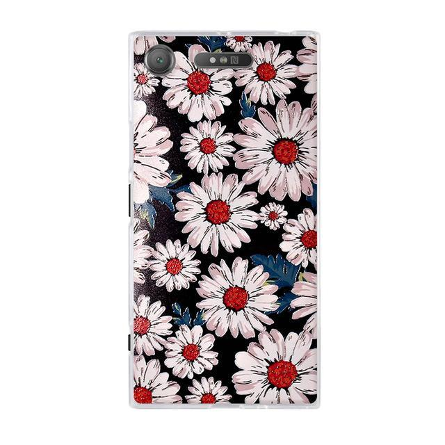 Phone Accessories Lux case SONY XPERIA XZ1 2 / TPU 3D Relief Painted Pattern Cover For Sony Xperia XZ1 Back Phone Cases
