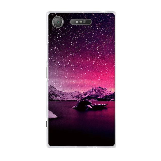 Phone Accessories Lux case SONY XPERIA XZ1 21 / TPU 3D Relief Painted Pattern Cover For Sony Xperia XZ1 Back Phone Cases