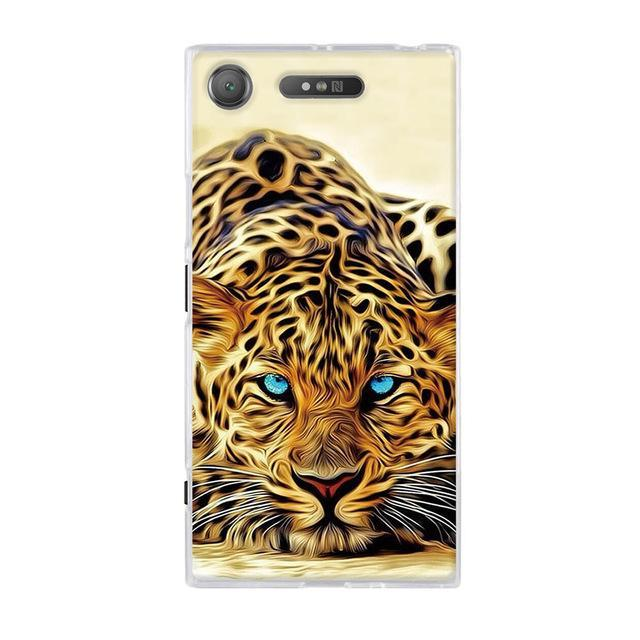 Phone Accessories Lux case SONY XPERIA XZ1 22 / TPU 3D Relief Painted Pattern Cover For Sony Xperia XZ1 Back Phone Cases