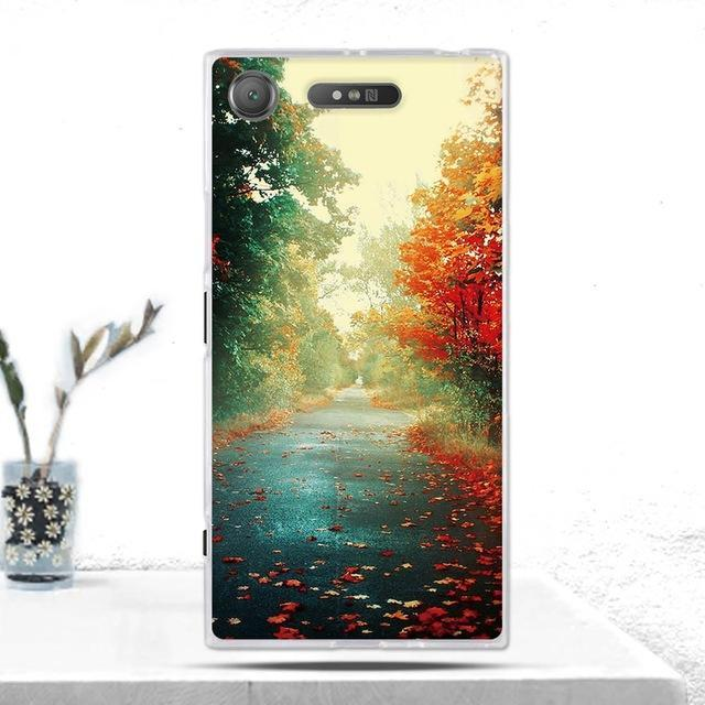 Phone Accessories Lux case SONY XPERIA XZ1 24 Cover Soft  Silicone Back Cover for Sony Xperia XZ1