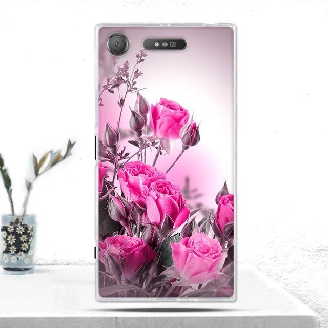 Phone Accessories Lux case SONY XPERIA XZ1 25 Cover Soft  Silicone Back Cover for Sony Xperia XZ1