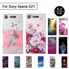 Phone Accessories Lux case SONY XPERIA XZ1 3D Relief Painted Pattern Cover For Sony Xperia XZ1 Back Phone Cases