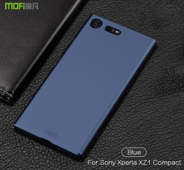Phone Accessories Lux case SONY XPERIA XZ1 blue / for XZ1 Compact Brand luxury 360 Full body cases Hard Frosted for Xperia XZ1 Compact 4.6''
