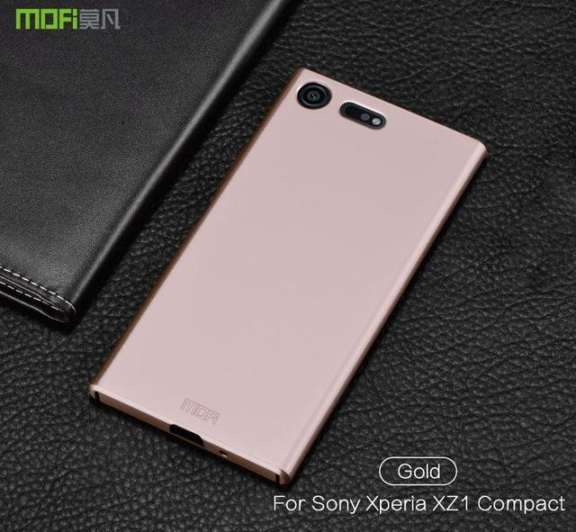 Phone Accessories Lux case SONY XPERIA XZ1 gold / for XZ1 Compact Brand luxury 360 Full body cases Hard Frosted for Xperia XZ1 Compact 4.6''