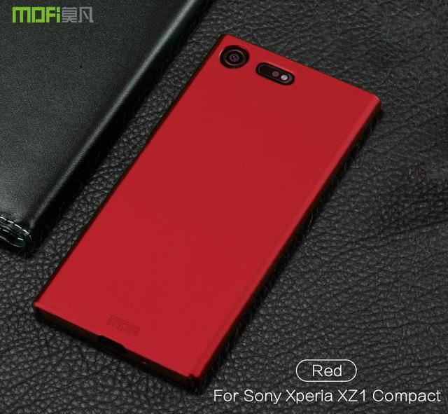 Phone Accessories Lux case SONY XPERIA XZ1 red / for XZ1 Compact Brand luxury 360 Full body cases Hard Frosted for Xperia XZ1 Compact 4.6''