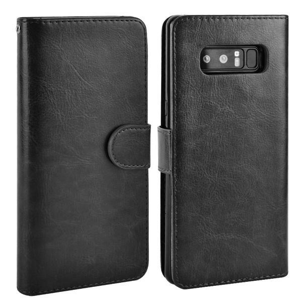 Phone Accessories Lux Galaxy Note 8 black / for Samsung Note 8 For Samsung Galaxy Note 8 Case Leather PU Card 2 in 1 Detachable Flip Cover ,Wallet Magnetic
