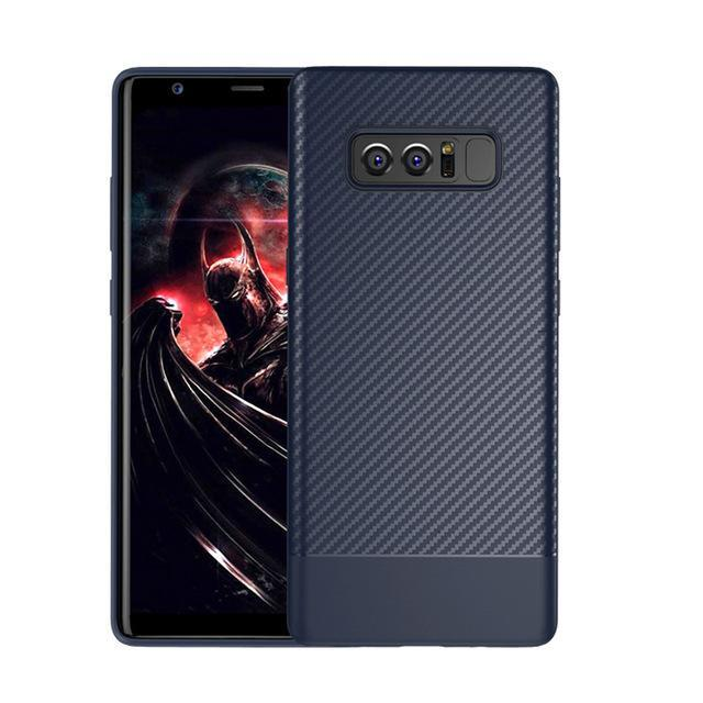 Phone Accessories Lux Galaxy Note 8 Blue / TPU Luxury Carbon Fiber Ultra Thin Silicone Soft TPU Case for Samsung Galaxy Note 8