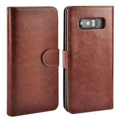 Phone Accessories Lux Galaxy Note 8 brown / for Samsung Note 8 For Samsung Galaxy Note 8 Case Leather PU Card 2 in 1 Detachable Flip Cover ,Wallet Magnetic