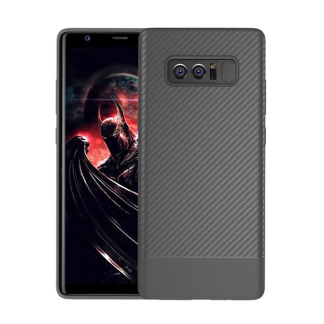 Phone Accessories Lux Galaxy Note 8 Gray / TPU Luxury Carbon Fiber Ultra Thin Silicone Soft TPU Case for Samsung Galaxy Note 8