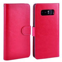 Phone Accessories Lux Galaxy Note 8 hotpink / for Samsung Note 8 For Samsung Galaxy Note 8 Case Leather PU Card 2 in 1 Detachable Flip Cover ,Wallet Magnetic
