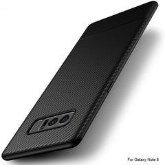 Phone Accessories Lux Galaxy Note 8 Luxury Carbon Fiber Ultra Thin Silicone Soft TPU Case for Samsung Galaxy Note 8