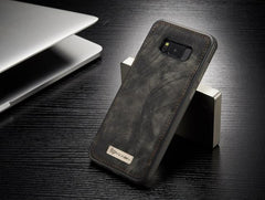 Phone Accessories Lux Galaxy s8 plus 008 black / For Samsung S8 Original Magnetic Vintage Leather + Soft TPU Silicon Back Cover Case For Samsung Galaxy S8/ S8 Plus