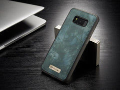 Phone Accessories Lux Galaxy s8 plus 008 blue / For Samsung S8 Original Magnetic Vintage Leather + Soft TPU Silicon Back Cover Case For Samsung Galaxy S8/ S8 Plus