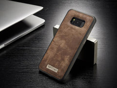 Phone Accessories Lux Galaxy s8 plus 008 dark brown / For Samsung S8 Original Magnetic Vintage Leather + Soft TPU Silicon Back Cover Case For Samsung Galaxy S8/ S8 Plus