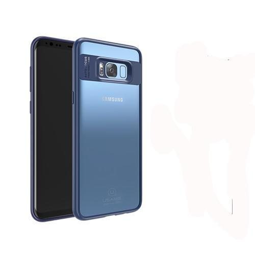 Phone Accessories Lux Galaxy s8 plus Blue with typec usb / For Galaxy S8 ull Protective TPU & Acrylic Transparent Back Cover for Galaxy S8 Plus-S8