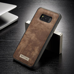 Phone Accessories Lux Galaxy s8 plus Original Magnetic Vintage Leather + Soft TPU Silicon Back Cover Case For Samsung Galaxy S8/ S8 Plus
