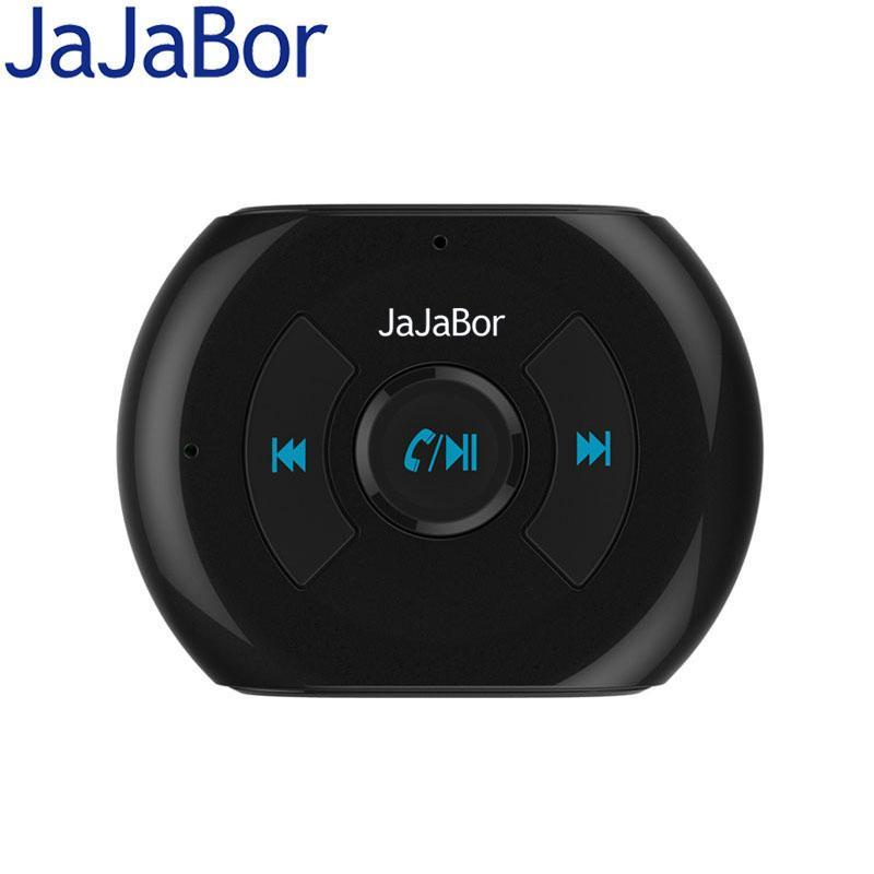 Phone Accessories Lux HANDS FREE KITS JaJaBor 3.5mm Jack Car Hands Free Wireless Bluetooth 4.0 Audio Music Receiver Adapter Black with Microphone for Phone Call