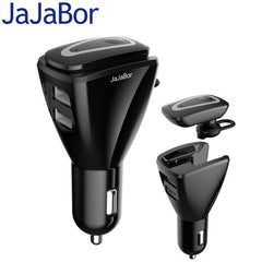 Phone Accessories Lux HANDS FREE KITS JaJaBor Car Bluetooth 4.1 Stereo Headset Wireless Hands Free Car Kit Audio Music Receiver With 5V 3.1A Dual USB Charging Dock