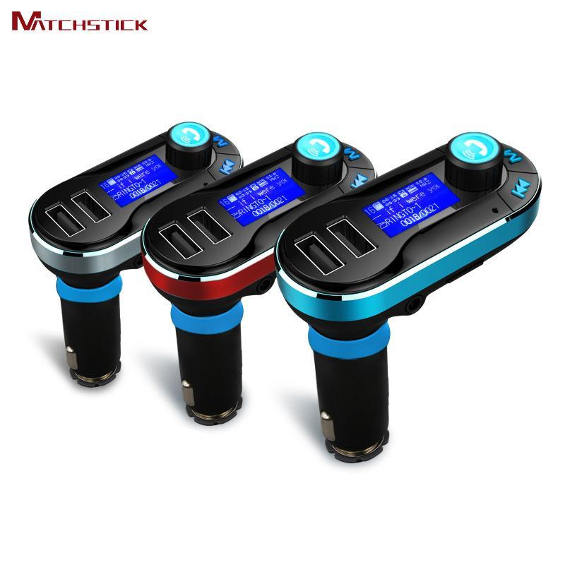 Phone Accessories Lux HANDS FREE KITS Matchstick  Hands free Bluetooth car kit,FM Transmitters Mp3 players support SD card/AUX-IN  ,Dual USB car charger accessoires