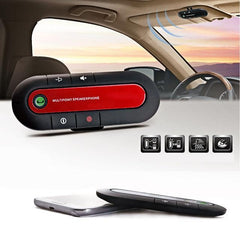 Phone Accessories Lux HANDS FREE KITS Red Bluetooth Car V3.0 Wireless Speaker Phone Slim Magnetic Hand Free In Car Kit Visor Clip High Quality Bluetooth Car Kit 3 Colors