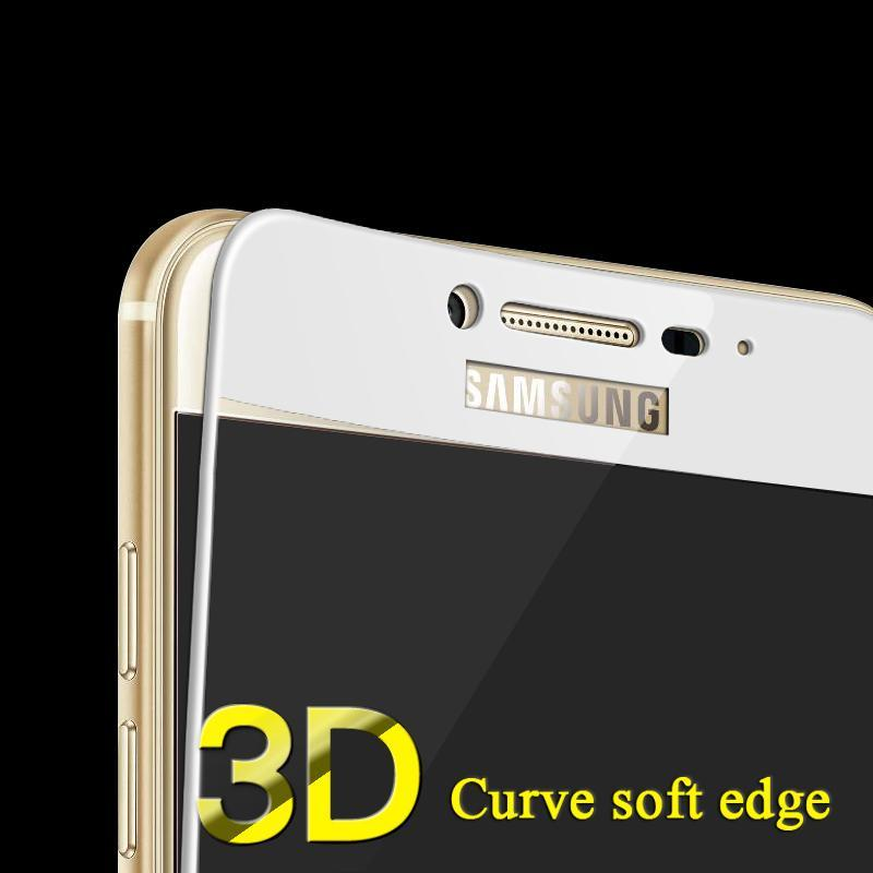 Phone Accessories Lux screen protection Galaxy a5 3D Soft Edge Full cover tempered glass for samsung galaxy  J5