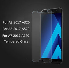 Phone Accessories Lux screen protection Galaxy a5 Tempered Glass For Samsung Galaxy A3  2017 Version A320 A520 A720