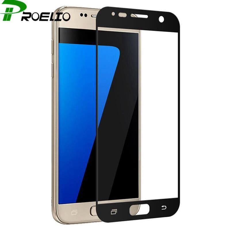 Phone Accessories Lux screen protection GALAXY J3 Full cover tempered glass for samsung galaxy J3