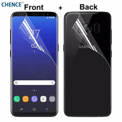 Phone Accessories Lux screen protector Galaxy s6 edge plus 2Pcs/lot Full Cover Front Back Screen Protector For Samsung Galaxy S6 Edge (Not Glass)