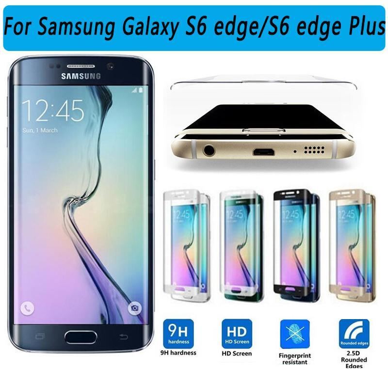 Phone Accessories Lux screen protector Galaxy s6 edge plus Screen Protector Coverage Glass Film for Galaxy S6 Edge