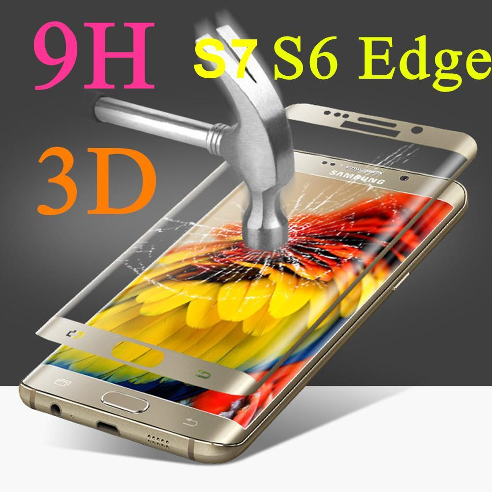 Phone Accessories Lux screen protector Galaxy s6 edge plus Tempered Glass For Samsung Galaxy S6 Edge Plus - 3D Curved Gorilla Glass