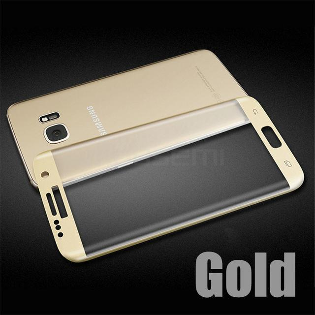 Phone Accessories Lux Screen Protector Galaxy S7 Gold / S7  (5.1 inch) 3D Curved Protective Film For Galaxy S7 Edge