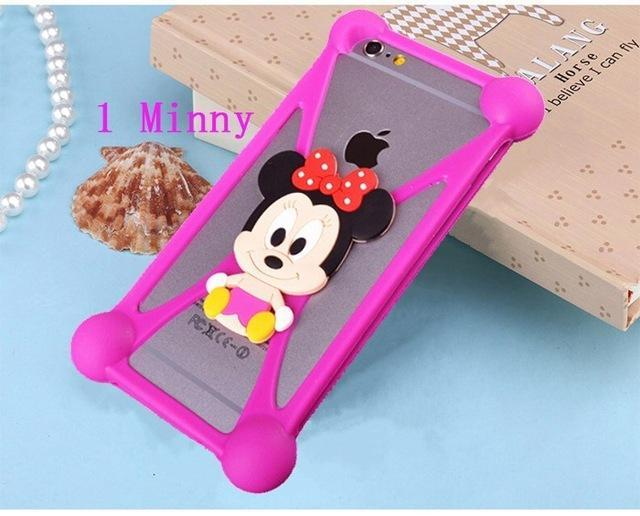 Phone Accessories Lux silicon case Sony xperia r1 plus 1 3D Silicon Cartoon Minnie Doraemon Soft Phone Case For Sony Xperia R1 Plus