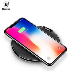Phone Accessories Lux Wireless Chargers Baseus Leather Qi Wireless Charger For iPhone X 8 Plus Samsung Galaxy Note 8 S8 S7 S6 Edge Desktop Fast Wireless Charging Pad