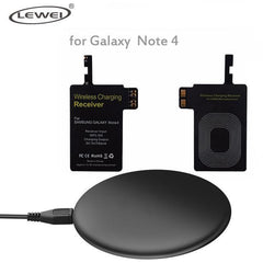 Phone Accessories Lux Wireless Chargers Black / For Note 4 Set Qi Wireless Charger Pad For iPhone 8 8 Plus For Samsung Galaxy Note 4 3 S3 S4 S5 Wireless Charging Panel With Receiver Coil
