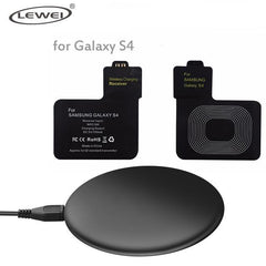 Phone Accessories Lux Wireless Chargers Black / For S4 Set Qi Wireless Charger Pad For iPhone 8 8 Plus For Samsung Galaxy Note 4 3 S3 S4 S5 Wireless Charging Panel With Receiver Coil