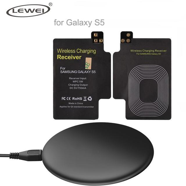 Phone Accessories Lux Wireless Chargers Black / For S5 Set Qi Wireless Charger Pad For iPhone 8 8 Plus For Samsung Galaxy Note 4 3 S3 S4 S5 Wireless Charging Panel With Receiver Coil