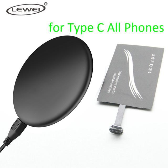 Phone Accessories Lux Wireless Chargers Black / for Type C set Qi Wireless Charger Pad For iPhone 8 8 Plus For Samsung Galaxy Note 4 3 S3 S4 S5 Wireless Charging Panel With Receiver Coil