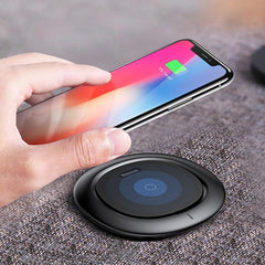 Phone Accessories Lux Wireless Chargers Black Qi Wireless Charger Baseus Fast Wireless Charging Pad For iPhone X 8 Plus Samsung Galaxy Note 8 S8 S7 S6 Edge Wirless Charger