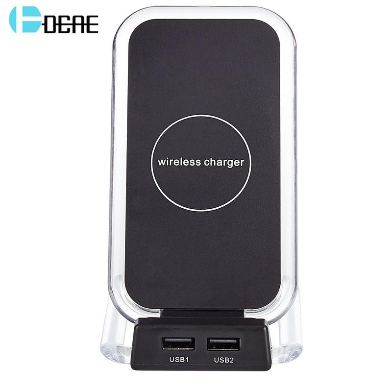 Phone Accessories Lux Wireless Chargers DCAE Qi Wireless Charger For iPhone X Samsung Note 8 S8 Plus S7 S6 Edge Phone Fast Wireless Charging Docking Dock Station