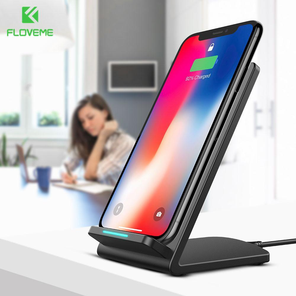 Phone Accessories Lux Wireless Chargers Fast Wireless Charger For Samsung Galaxy S8 S7 S6 Edge and For iPhone X 8 8 Plus