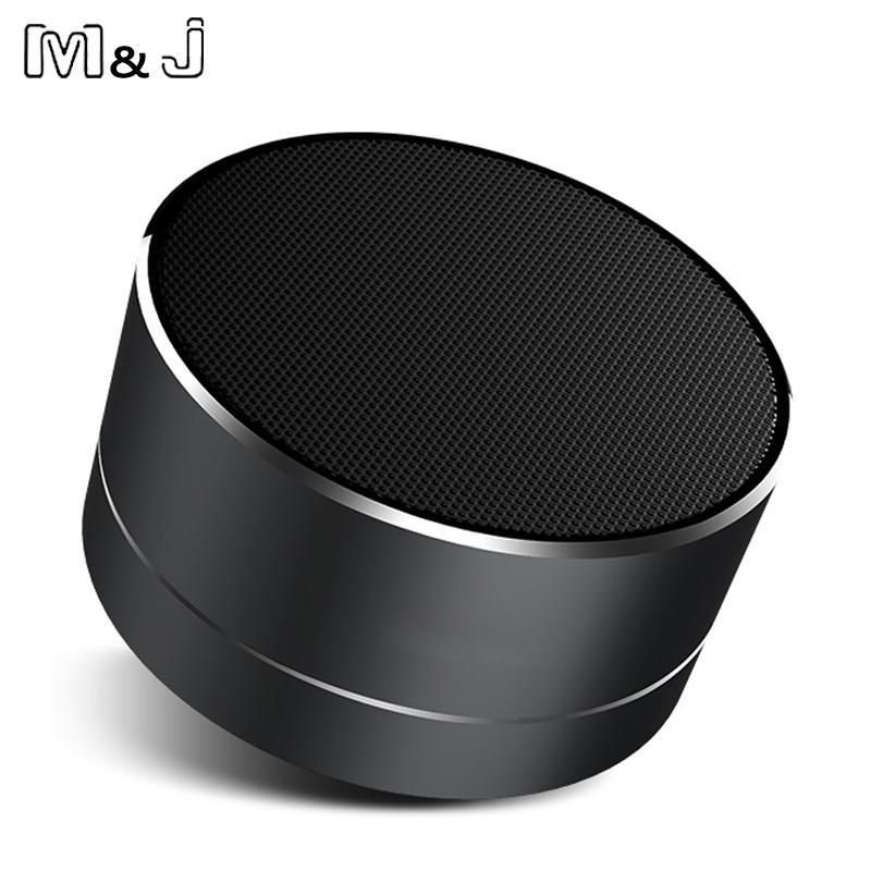 Phone Accessories Lux Wireless Chargers M&J A10 Portable Bluetooth Wireless Speaker with MIC Handfree Call LED Light TF Card CNC Mini Speaker For Samsung PC iPhone