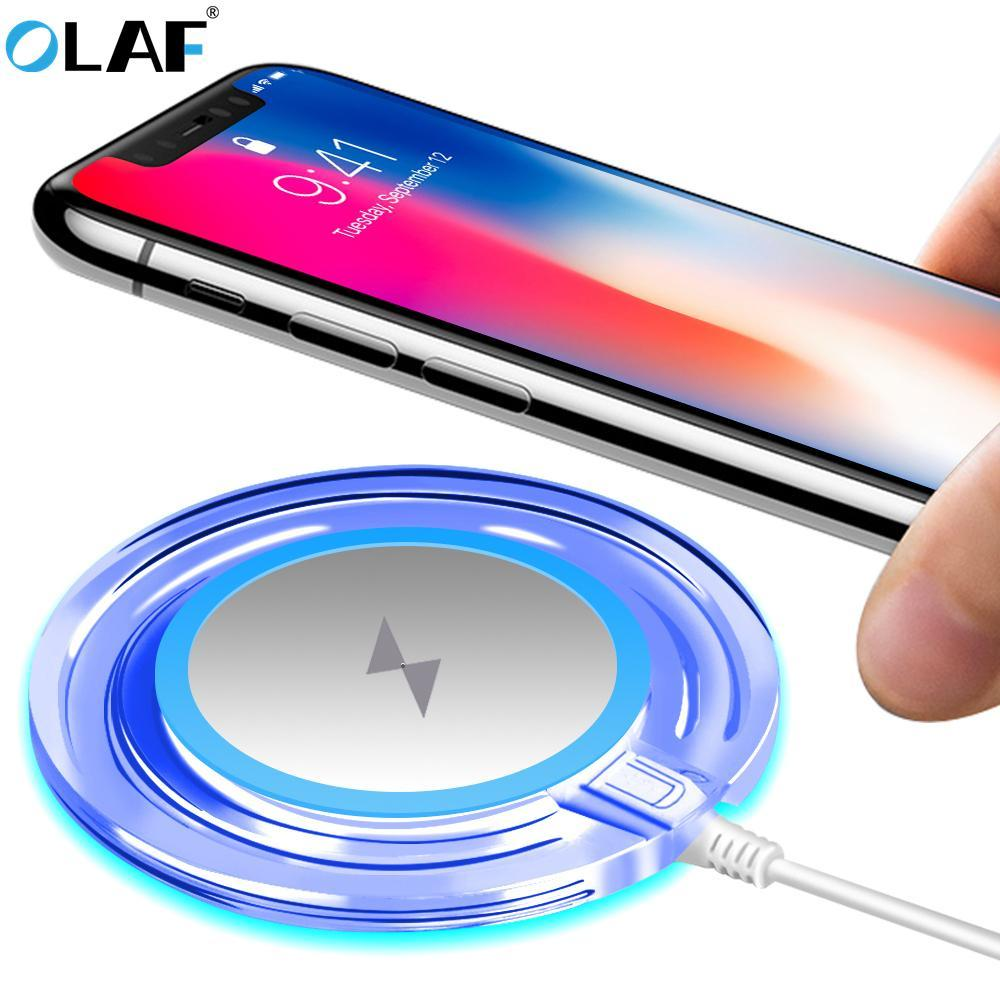 Phone Accessories Lux Wireless Chargers OLAF 10W Qi Wireless Charger Fast Portable Qi Standard Charging Pad For Samsung Galaxy S7 S8 Note8 iphone 8 X 10 Mobile Phone